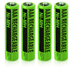 Philips Battery for Philips NiMH AAA (4-Pack) NiMh AAA Batteries 4-Pac