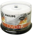 Philips DR4I6B50F/17 50 Blank DVD Pack