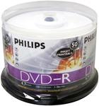 Philips DM4I6B50F/17 50-Pack Blank DVD-R Media